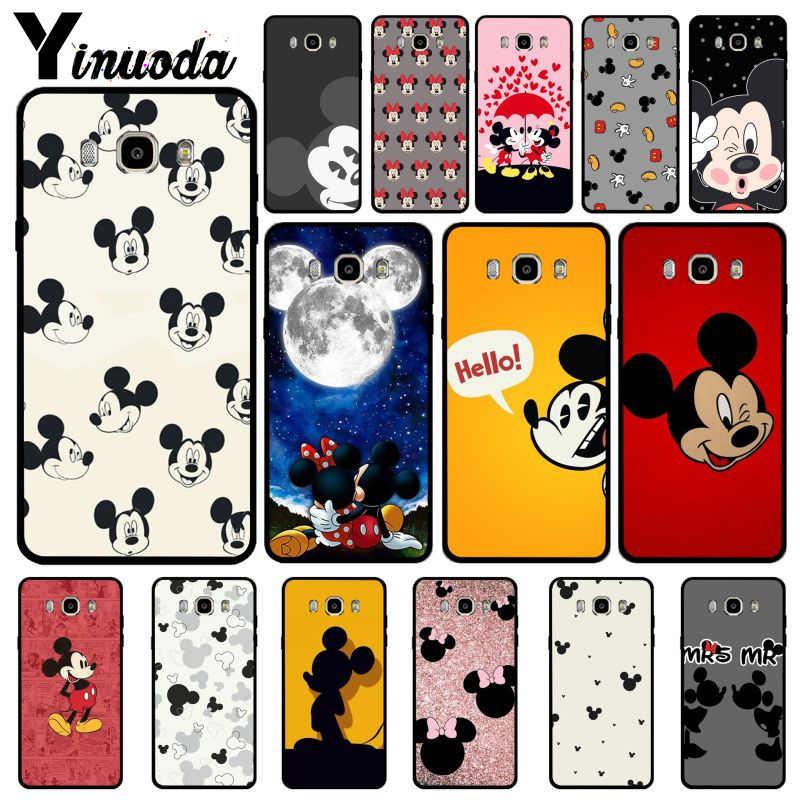 Yinuoda Bonito dos desenhos animados Mickey Minnie Mouse Top Detalhado Cell Phone Case Capa Para GALAXY s5 s6 borda borda mais s7 borda s9 s8 plus