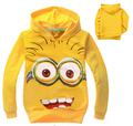 2015 New Children Hoodies Boys Girls Long-sleeve Sweatshirts Cartoon Kids Coats Spring Autumn Child Tops for 3-7Y