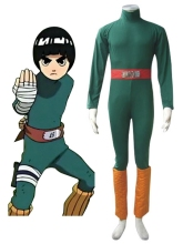 Free Shipping font b Naruto b font Rock Lee Green Uniform Anime font b Cosplay b