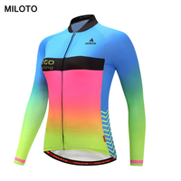 MILOTO Women Cycling Jersey Fluorescence Team Fall Sport Bike Team Racing Clothes Tops Bicycle Cycling Clothing