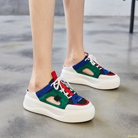 Blue Sandals Platform Women 2019 Ladies Casual Shoes Wedge High Chunky Heel Sandals Summer Shoes High Top Ankle Shoes 39