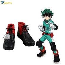 My Hero Academia Boku no Hero Akademia Izuku Midoriya Shoes Cosplay Boots Custom Made Any Size цена и фото