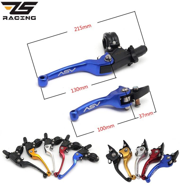 ZS Racing 22mm Alliage ASV F3 Série 2ÈME Embrayage De Frein Pliage levier Fit Plus Moto VTT Dirt Pit Bike Modifier Pièces De Rechange pièces