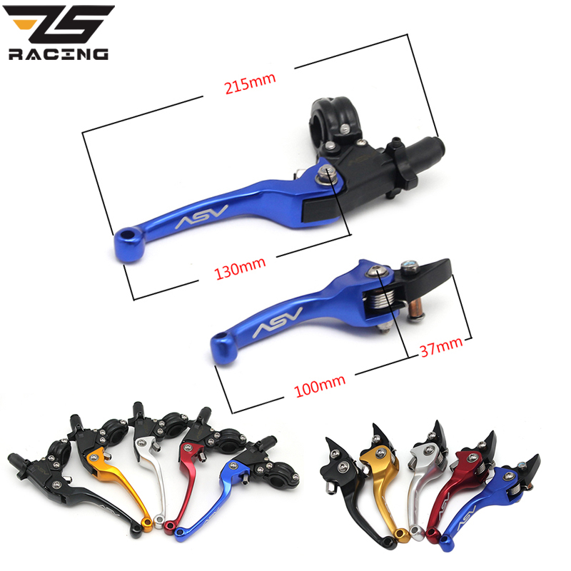ZS Racing 22mm Alloy ASV F3 Series 2ND Clutch Brake Folding Lever Fit Most Motorcycle ATV Dirt Pit Bike Modify Parts Spare Parts цена