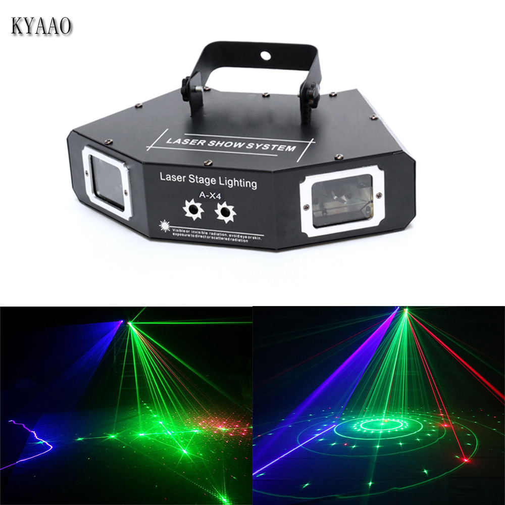 Colorful Full Color Rgb Laser Stage Lighting Projector Auto Control Mini Star Laser Dj Disco Light For Home Party Night Club Easy To Lubricate Lights & Lighting