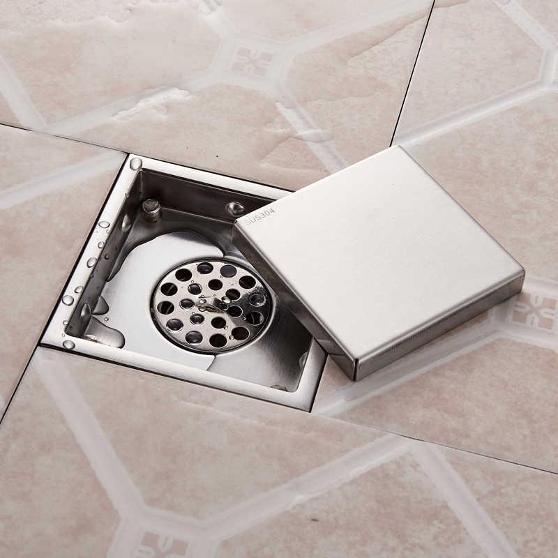 Античный латунный напольный слив 10 см душ Трап дезодорант для ванной комнаты квадратный сливной фильтр крышка решетки