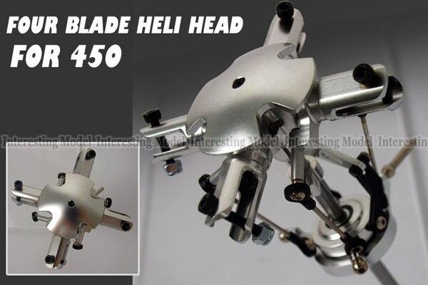 где купить 4 Blades Flybarless Conversion main Rotor Head for Trex 450 V2 V3 PRO RC helicopter по лучшей цене