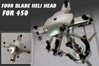 4 Blades Flybarless Conversion Rotor Head For Trex 450 V2 V3 PRO