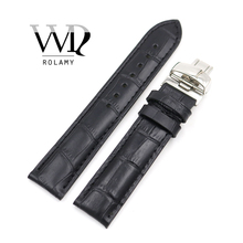 купить Rolamy 19mm Wholesale Genuine Leather Replacement Wrist Watch Band Strap Bracelet Loops For PRC200 T17 T461 T014430 T014410 по цене 1487.6 рублей