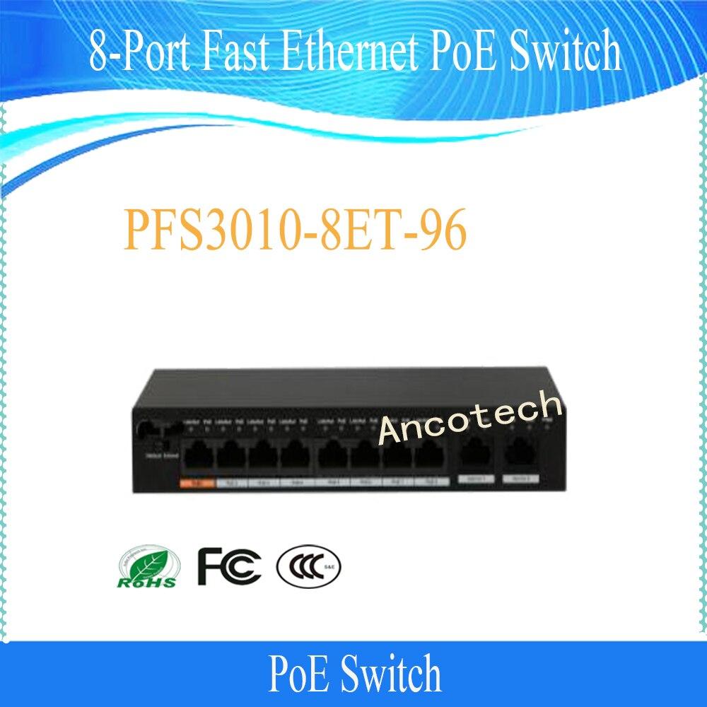 Бесплатная S Здравствуйте pping DAHUA 8 Порты и разъёмы Fast Ethernet коммутатор PoE Sup Порты и разъёмы s Здравствуйте PoE DC 48 57 В питания без логотипа