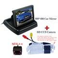 """Cor 4.3 """"traseira do carro do monitor + 4 ir auto car estacionamento camera para Kia K2 Rio hatchback ceed 2013 para Hyundai Solaris (verna) hatchback"""