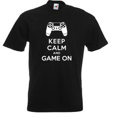 футболка estevan oriol america s game charcoal 3xl KEEP CALM & GAME ON 360 XBOX ONE PS3 PS4 FUNNY MENS T SHIRT S-3XL PLAYSTATIONMans Unique Cotton Short Sleeves O-Neck T Shirt