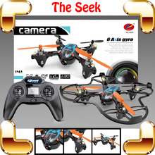 New Coming Gift Seek 2.4G 4CH RC Quadcopter Mini Strong Aircraft Electric Machine Fighter Helicopter With Camera Set Radio