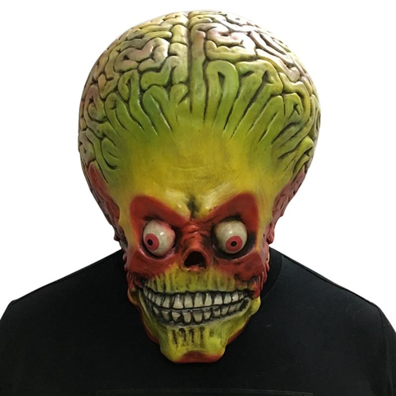 Brain Plasma Eyeball Full Face Mask Alien Mask Latex Horror Halloween Festive Party Mask Scream Horror Decoration