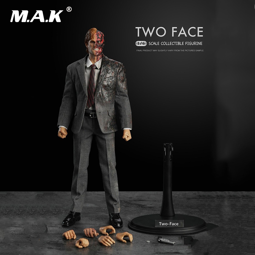 1/6 Scale Male Full Action Figure Two Face Batman Series Harvey Dent Collectible Figure Model Toys Gift 1 6 scale full set male action figure kmf037 john wick retired killer keanu reeves figure model toys for gift collections