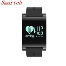 Smartch 2017 DM68 смарт-браслет трекер монитор сердечного ритма Смарт-браслет на наручные часы измерять кровяное давление будильник
