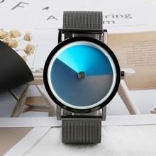 Проигрыватель наручные часы унисекс Для мужчин Спорт пилот кварцевые часы Фиолетовый Нержавеющаясталь часы сетки группы женские булавки для воротника часы с застежкой