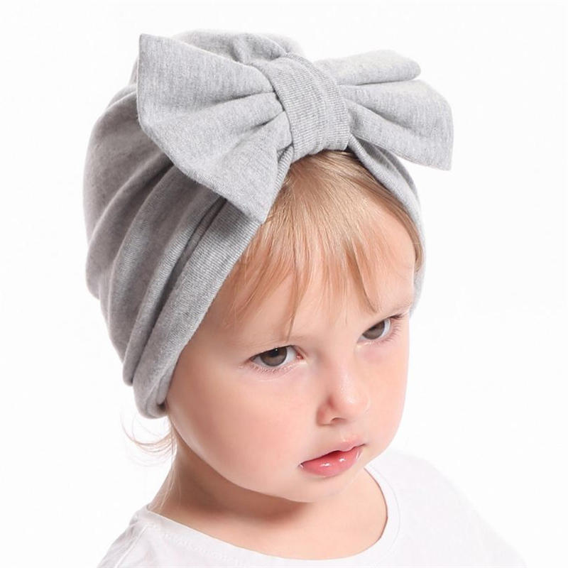 Girls' Baby Clothing Hats & Caps New Baby Girl Infant Hat Rabbit Ears Knotted Head Cap Lovely Bowknot Beanie Hat Kids Headwear Hair Accessories 5 Colors 1-6y