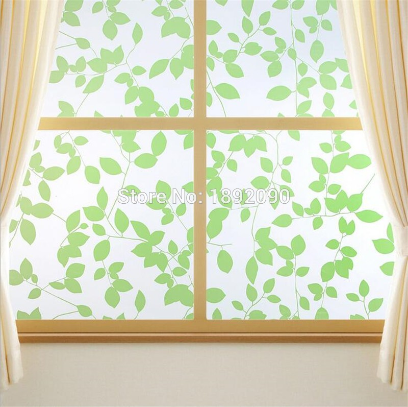 90*200 cm Adhesive Thickening Retro Windows Paste Paper cut Frosted Window Sticker Paper Toilet Frosted Glass Film Bathroom