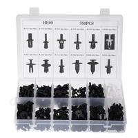 350pcs Universal Car Mixed Door Trim Panel Clips Fasteners Auto Bumper Rivet Retainer Push Engine Cover