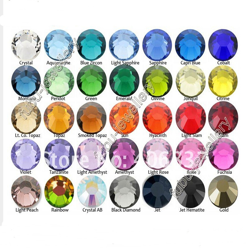 Wholesale 1440 pcs /pack SS3 crystal Multicolor ( 3d Nail s