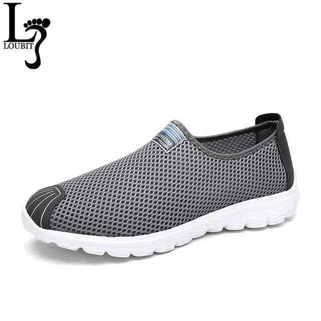 bf30973150176 Big Size Men Shoes Fashion Breathable Air Mesh Casual Shoes Non-Slip  Comfortable Daily Shoes Slip On Men Shoes Male Flats