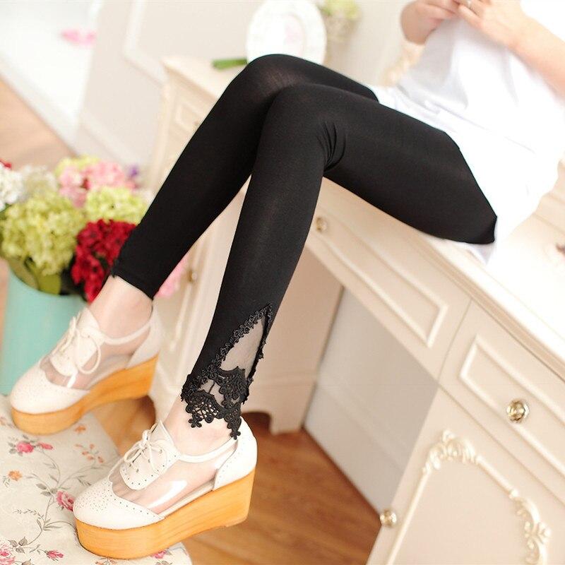 Fashion Women's Leggings Sexy Casual Lace Skinny Fitness Leg Warmer Fit Most Sizes Leggins Pants Trousers Woman's Leggings