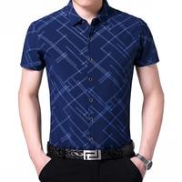 Hot Sale Mens Summer Striped Shirt New Style 2017 Cheap Fashion Stripes Male Shirts Short Sleeve