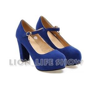 Image 4 - Nekopara Chocola Vanilla Anime Maidservant Lolita blue red Cosplay Shoes High Heels Pumps