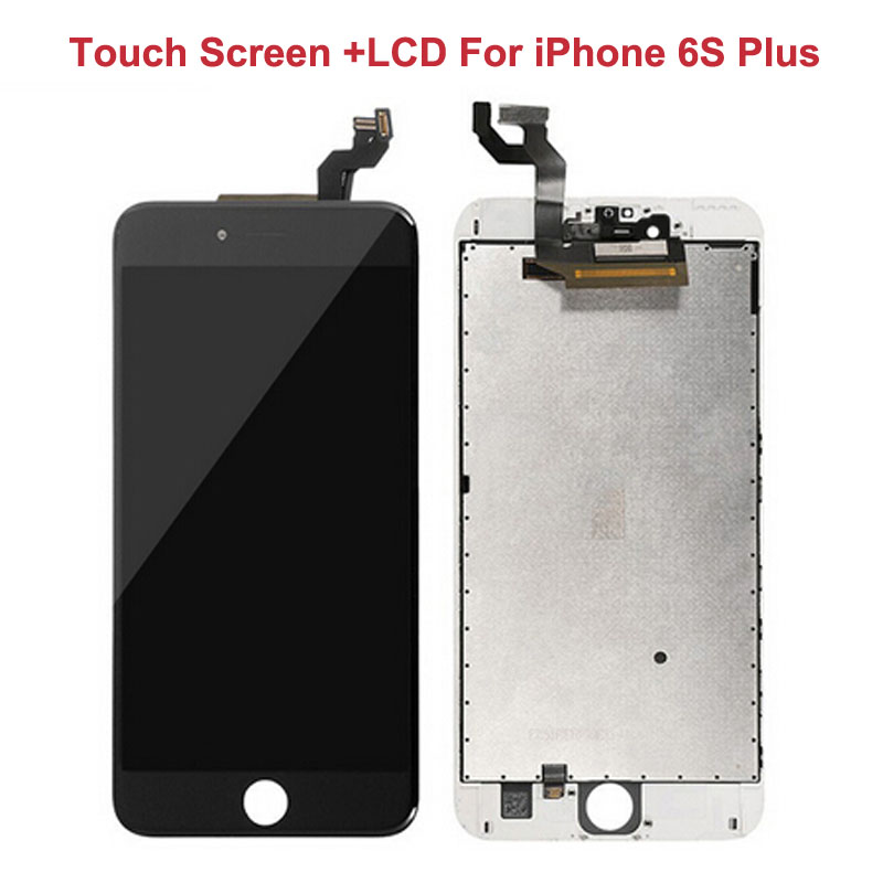 3 PCS/LOT Black White LCD Display For iPhone 6S Plus+5.5 Touch Screen Touch Panel Glass Sensor Digitizer Assembly Replacement