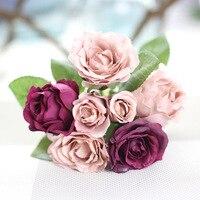 Handmade Rosa Artificial Flores Do Casamento buquê de Casamento Buquê de Noiva para As Noivas de Casamento Decoração Fontes Do Partido Venda Quente