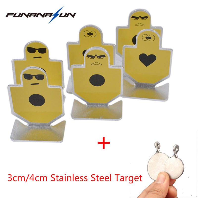 6Pcs Shooting Metal Target Element Metal Warriors of Fortitude Pistol Small Target For Airsoft Practice Target Mount Accessory