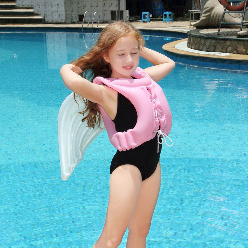 4ed88539d2 Kids Inflatable Angel Swim Life Vest Adjustable Swimming Jacket Swimsuit  Floating Lifejacket Boia Piscine Self study Accessories-in Life Vest from  Sports ...