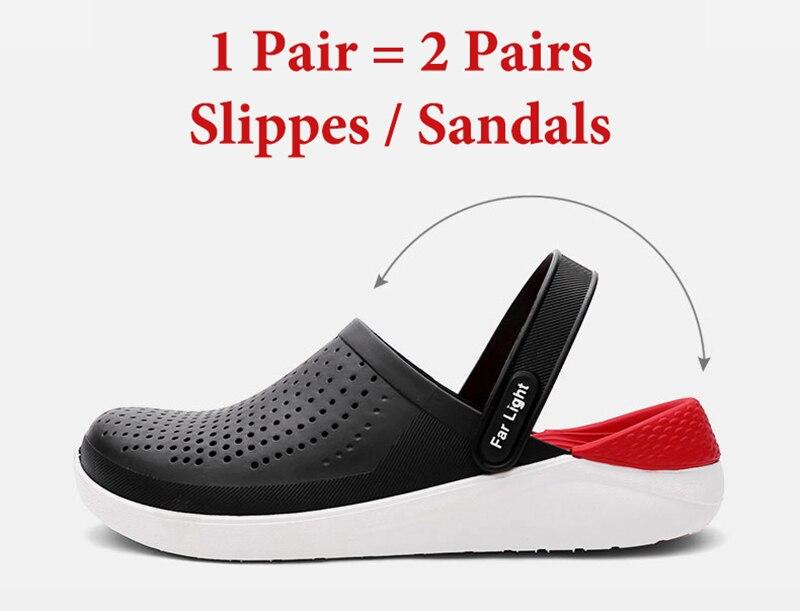 ar livre sandálias respirável homens antiderrapante slides