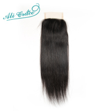Ali Grace Hair Brazilian Straight Hair Lace Closure 4*4 Free Part Closure 100% Remy Human Hair Shipping Free