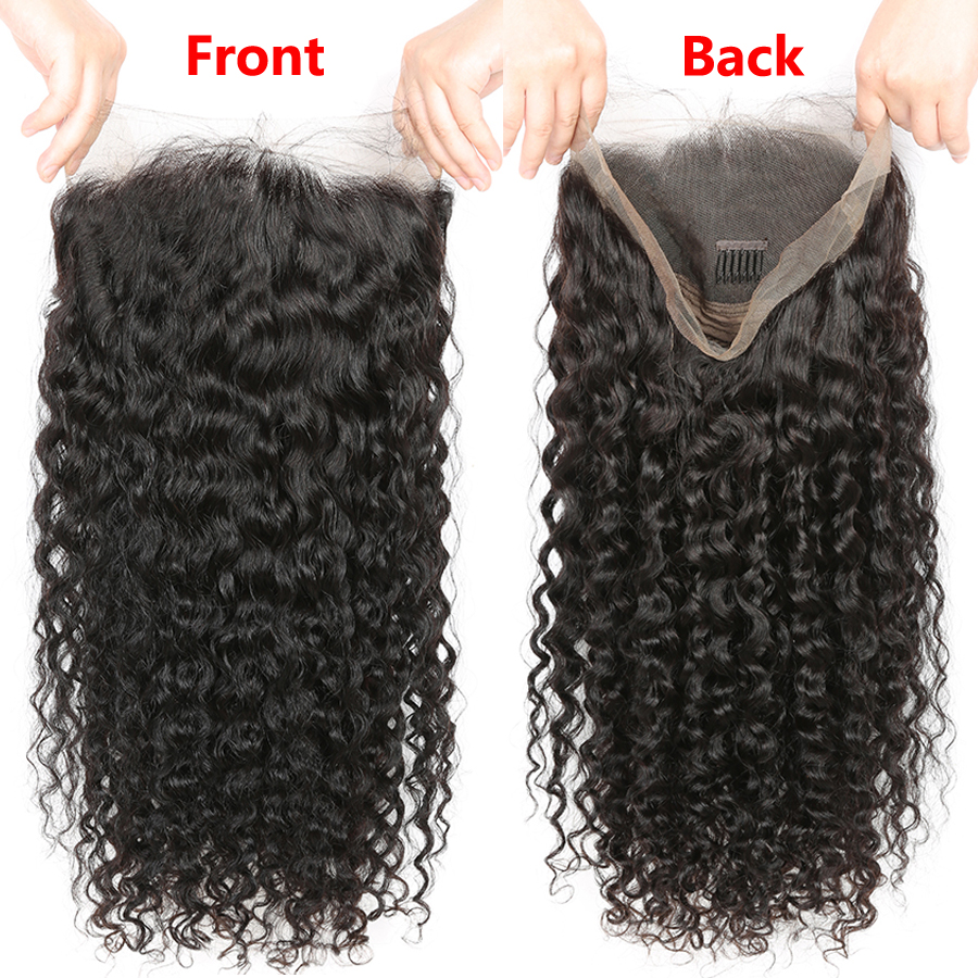 Image 2 - RXY Brazilian Deep Wave Wig Pre Plucked Full Lace Human Hair Wigs With Baby Hair Glueless Full Lace Wigs For Black Women Remy-in Human Hair Lace Wigs from Hair Extensions & Wigs
