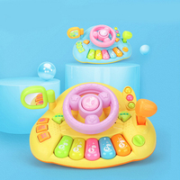2019 Children's Steering Wheel Toy Baby Childhood Educational Driving Simulatio Baby Toy With Lights Mirror Music Driving Sounds