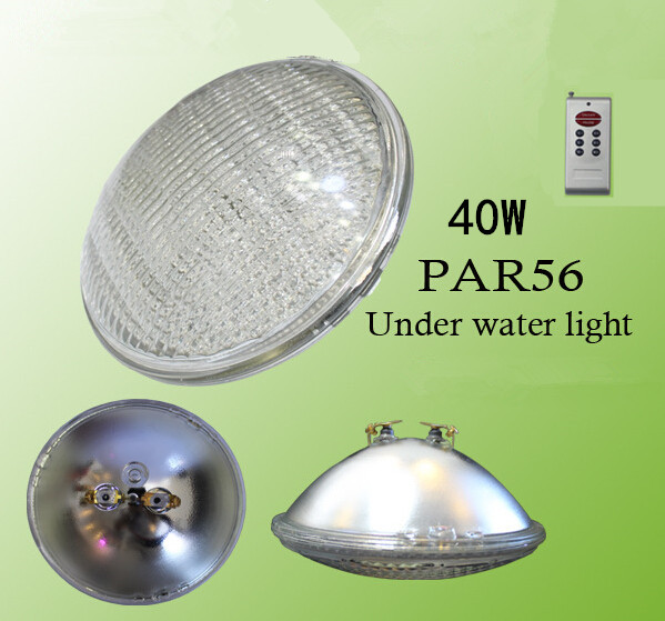 New Par56 LED Swimming Pool Light SMD 558 LEDs Light 40W RGB 12V Glass/ABS IP68 40w LED PAR56 Red/blue/green color