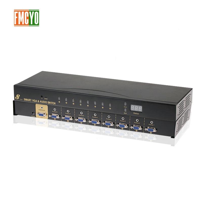 Kvm Switch VGA 9 Port USB 2.0 KVM Switch 1080P VGA SVGA Switcher Splitter Box For Keyboard Mouse With Audio 3.5
