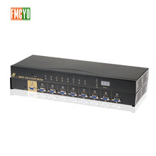 цена Kvm Switch VGA 9 Port USB 2.0 KVM Switch 1080P VGA SVGA Switcher Splitter Box for Keyboard Mouse  With Audio 3.5