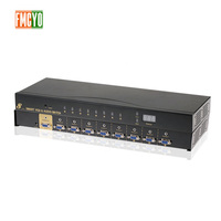 Kvm Switch VGA 9 Port USB 2.0 KVM Switch 1080P VGA SVGA Switcher Splitter Box for Keyboard Mouse With Audio 3.5