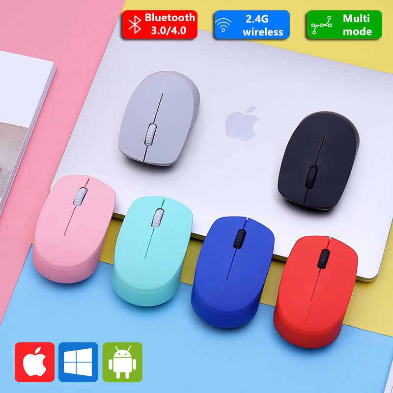 Новая Бесшумная Беспроводная оптическая мышь Rapoo с Bluetooth 3,0/4,0 RF 2,4G Бесшумная мини Бесшумная мышь для Windows PC ноутбука компьютера