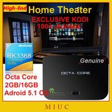 2016 Nueva Gama Alta de Z4 Android 5.1 OS Octa Core RK3368 Smart TV caja 2 GB/16 GB HDIM 5G Wifi 4 K KODI XBMC Fully Loaded Set Top caja