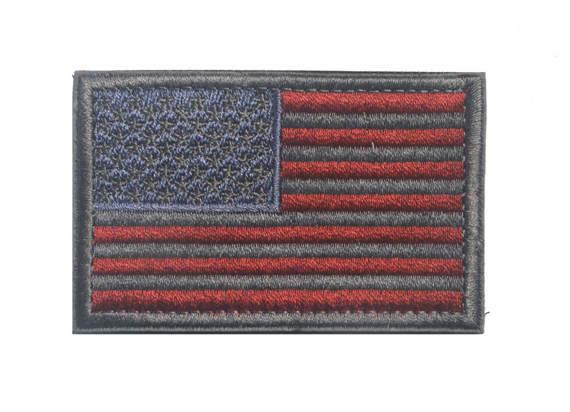 Collectibles Badges Clothes Bag Embroidery United States Flag Epaulette Patches Hook Loop Fastener Hiking Outdooramp Accessorie in Badges from Home Garden