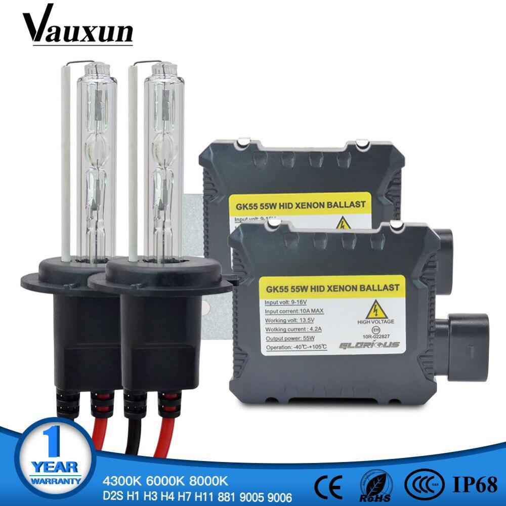 Een Set H7 Xenon HID Kit H4 H1 H11 H8 9005 HB3 9006 HB4 881 D2S xenon hid ballast Voor auto Licht Koplamp 4300 k 6000 k 8000 k 12 v