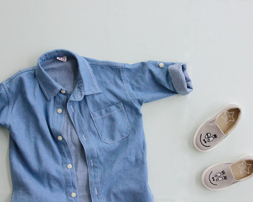 2pcs-lot-Family-Matching-Outfits-mother-daughter-clothes-mother-son-matching-long-sleeve-denim-shirt-2 (2)