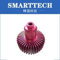 Изготовленное на заказ изготовление прототипа плавника CNC точности подвергая механической обработке алюминиевое