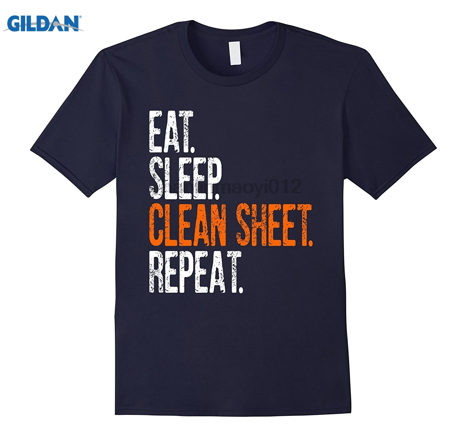 GILDAN Eat Sleep Clean Sheet Repeat T-Shirt glasses Womens T-shirt