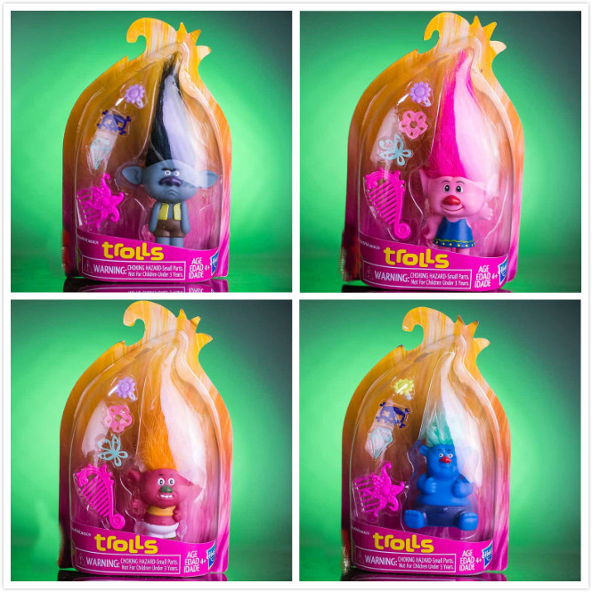 4Style cute 14-18cm Trolls Poppy DJ Suki Branch Biggie PVC figure Toy trolls канцелярский набор 4 предмета