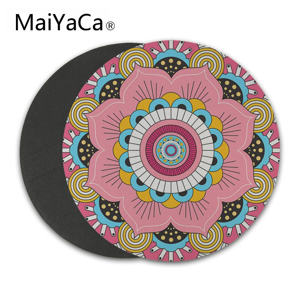 MaiCaYa Mousepad Anti Slip for Home Office PC Gaming LOL CS GO Vintage Bohemian Round Mouse pad Carpet Mouse Pad Mat